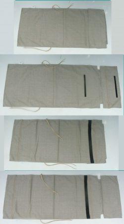 P011A párnahuzat fejpárnával sierra beige anyagból