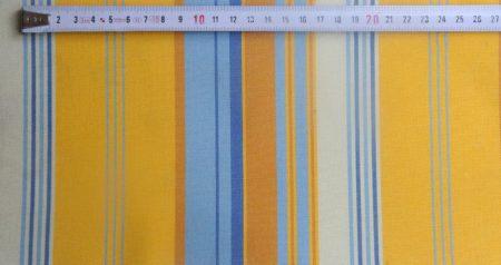kék-sárga csíkos akril bútorszövet