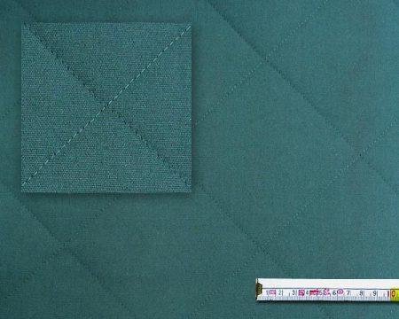 zöld, steppelt akril bútorszövet